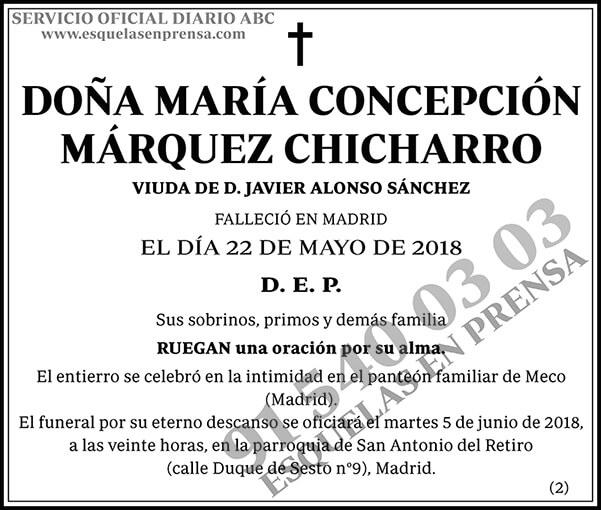María Concepción Márquez Chicharro